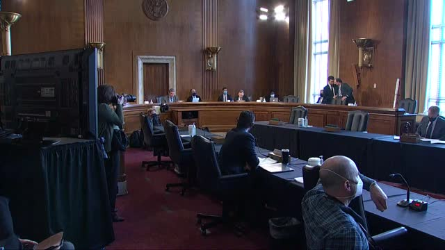senate energy and natural resources committee chairman joe manchin west virginia says at nomination hearing for debra haaland that lands managed by... - built structure stock videos & royalty-free footage