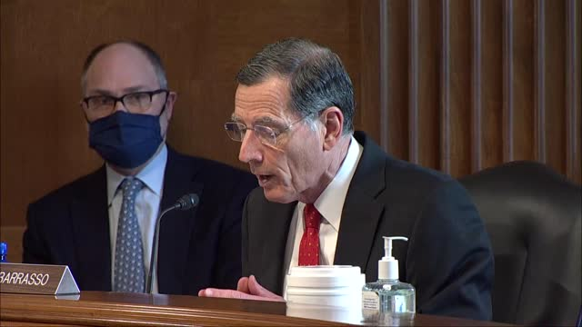 senate energy and natural resources committee ranking member john barrasso of wyoming says at nomination hearing for debra haaland to be interior... - wyoming stock videos & royalty-free footage