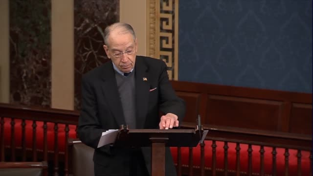 senate finance committee chairman chuck grassley says on day 26 of the partial government shutdown that since 75 percent of individuals receive an... - day26 stock videos & royalty-free footage