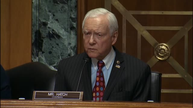 stockvideo's en b-roll-footage met senate finance committee chairman orin hatch says that he has never experienced such partisan animosity when dealing with nominees of an opposing... - hatch