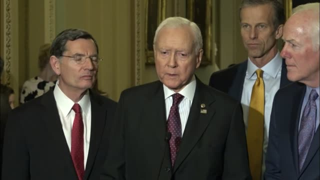 Senate Finance Committee Chairman Orrin Hatch of Utah tells reporters that the Committee had come a long way to get a comprehensive tax reform bill...