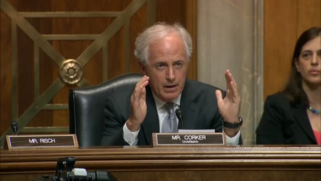 Senate Foreign Relations Committee Chairman Bob Corker of Tennessee tells Secretary of State Mike Pompeo that public statements of President Donald...