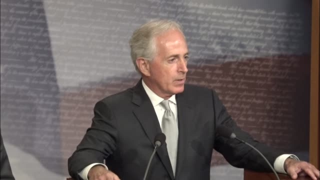 Senate Foreign Relations Committee Chairman Bob Corker of Tennessee discusses legislation named for Taylor Force an American citizen killed by a...