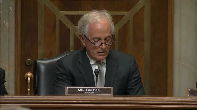 Senate Foreign Relations Committee Chairman Bob Corker of Tennessee begins a hearing saying that in the modern era a president has the ability to...