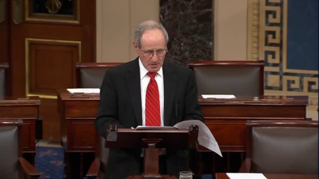 senate foreign relations committee chairman jim risch describes the caesar syria civilian protection act with sanctions targeted to those in the... - senate stock videos & royalty-free footage