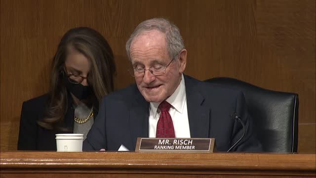 senate foreign relations committee ranking member jim risch of idaho says at state department nomination hearing that reentering a nuclear deal... - partisan politics stock videos & royalty-free footage