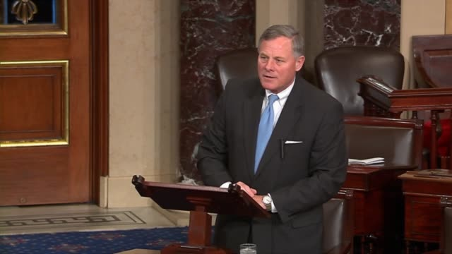 senate intelligence committee chairman richard burr of north carolina speaks minutes before a vote on limiting debate on the nomination of former... - senator stock videos & royalty-free footage