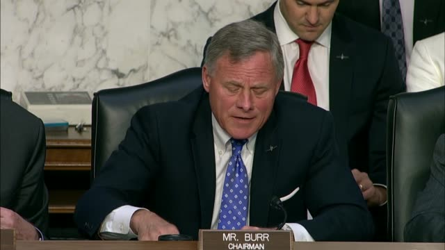 senate intelligence committee chairman richard burr of north carolina says at the nomination hearing for gina haspel to be cia director that he had... - senator stock videos & royalty-free footage