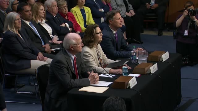senate intelligence committee chairman richard burr of north carolina says at the nomination hearing for gina haspel to be cia director that the cia... - senator stock videos & royalty-free footage