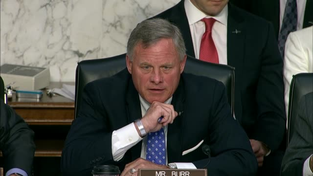 senate intelligence committee chairman richard burr of north carolina questions cia director nominee gina haspel about her role in detainee... - nominee stock videos & royalty-free footage