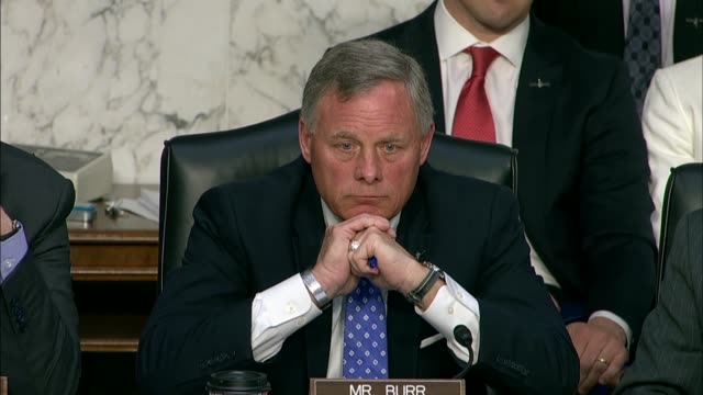 Senate Intelligence Committee Chairman Richard Burr of North Carolina questions CIA Director nominee Gina Haspel about destroying tapes of torture...
