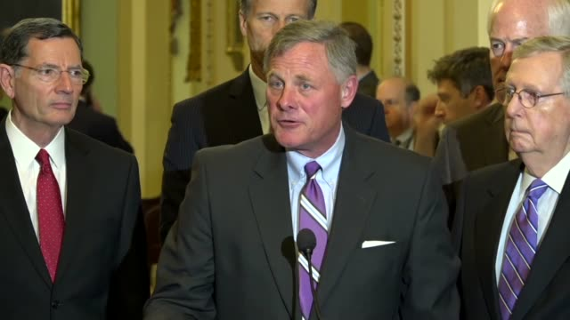senate intelligence committee chairman richard burr says at a weekly briefing the next day his committee would hold hearings on gina haspel's... - senator stock videos & royalty-free footage