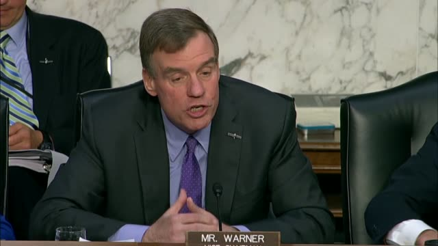 senate intelligence committee ranking democrat mark warner of virginia says at the nomination hearing for gina haspel to be cia director that the... - national security agency usa stock videos and b-roll footage