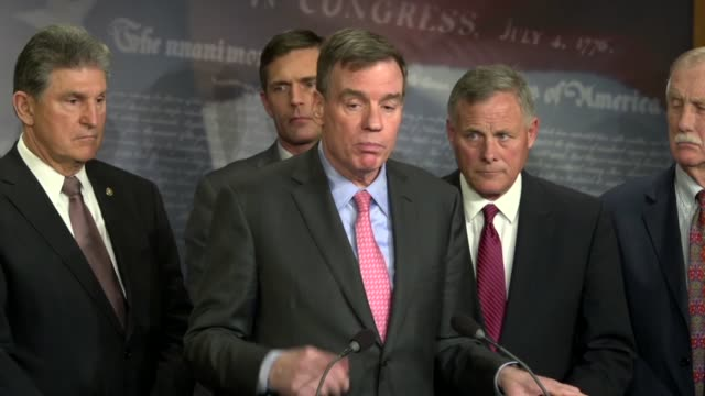 Senate Intelligence Committee ranking Senator Mark Warner of Virginia tells the press that there was still much to do before the 2018 midterm...