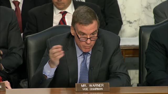 Senate Intelligence Committee Vice Chairman Mark Warner of Virginia questions Attorney General Jeff Sessions about his involvement with the campaign...
