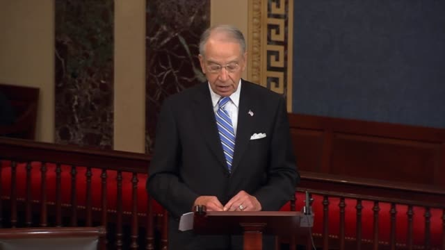 Senate Judiciary Chairman Charles Grassley says that changes under military justice improvement act containing reforms proposed to an earlier defense...