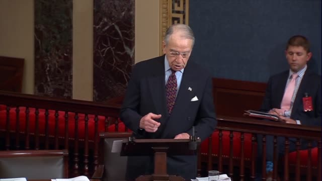 senate judiciary chairman chuck grassley of iowa begins remarks on the impact of changing the balance of the supreme court following the death of... - vacancyサイン点の映像素材/bロール