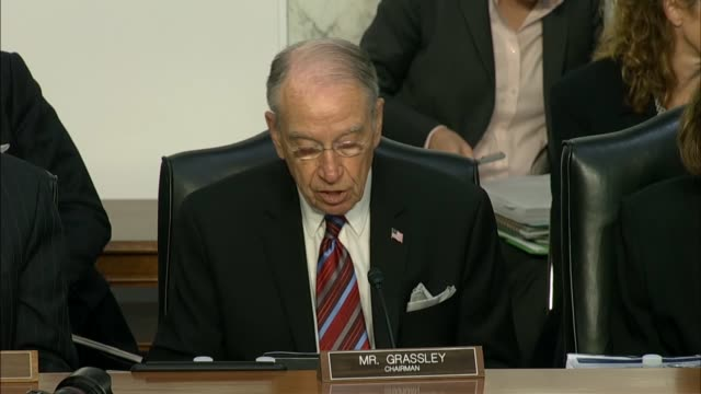 senate judiciary committee chairman charles grassley of iowa said during his opening statement that current fbi director christopher wray has quite a... - christopher a. wray stock videos & royalty-free footage
