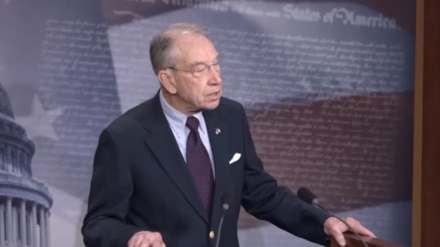Senate Judiciary Committee Chairman Chuck Grassley of Iowa discusses the confirmation of Judge Neil Gorsuch to the Supreme Court with reporters...
