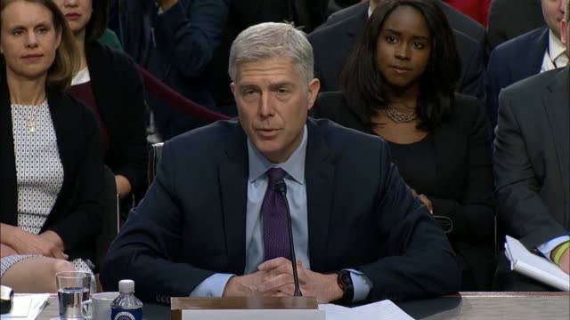senate judiciary committee chairman chuck grassley of iowa engages supreme court nominee judge neil gorsuch during the first round of questioning on... - senate judiciary committee stock videos & royalty-free footage