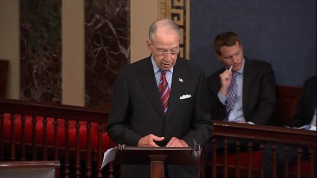 senate judiciary committee chairman chuck grassley of iowa says hours before president donald trump announced a nominee to the supreme court that he... - supreme court justice stock videos & royalty-free footage