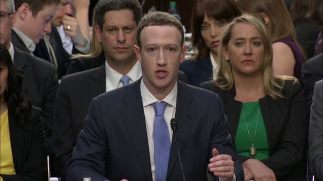 senate judiciary committee chairman chuck grassley questions facebook ceo mark zuckerberg at a joint hearing on data privacy about his company's... - plain stock videos & royalty-free footage