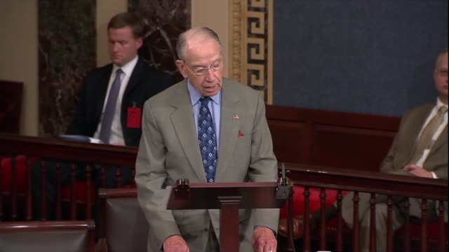 senate judiciary committee chairman chuck grassley says of the supreme court nomination of brett kavanaugh that senator dick durbin had pointed to a... - dick durbin stock videos & royalty-free footage