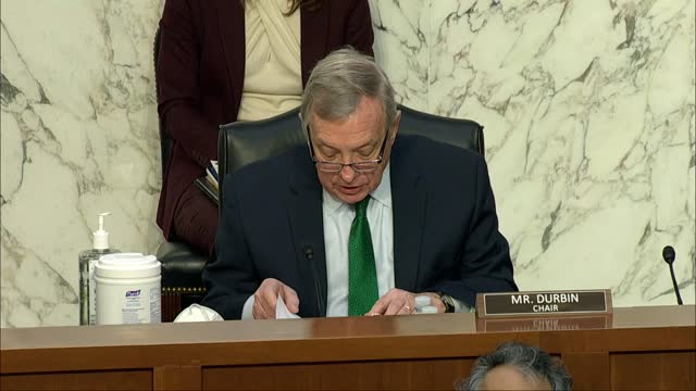 senate judiciary committee chairman dick durbin of illinois says at oversight hearing with fbi director christopher wray that america's first... - nomination stock videos & royalty-free footage