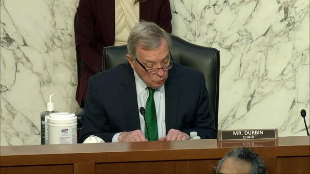senate judiciary committee chairman dick durbin of illinois says the trauma of tragic harrowing day lingered on, the same timeless symbol of the... - erinnerung stock-videos und b-roll-filmmaterial