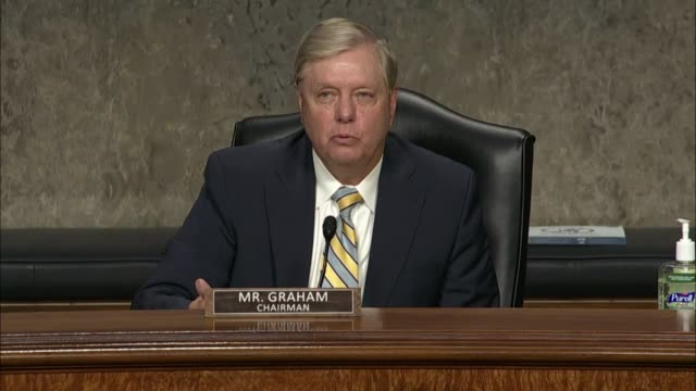 senate judiciary committee chairman lindsey graham intervenes at a hearing in review of the fbi crossfire hurricane investigation with former deputy... - attorney general stock videos & royalty-free footage