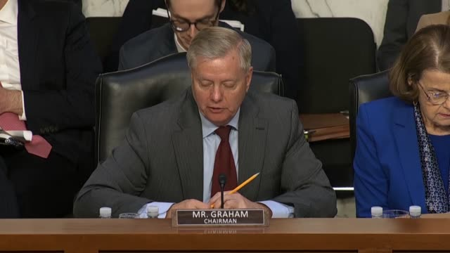 senate judiciary committee chairman lindsey graham of south carolina asks attorney general nominee william barr at his nomination hearing in the... - senate judiciary committee stock videos & royalty-free footage