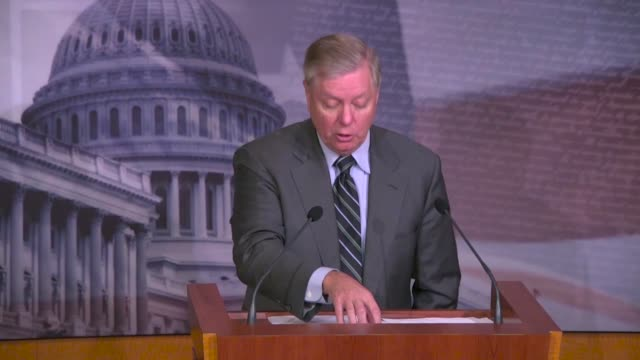 senate judiciary committee chairman lindsey graham of south carolina tells reporters at a press conference hours after the justice department... - united states presidential election stock videos & royalty-free footage