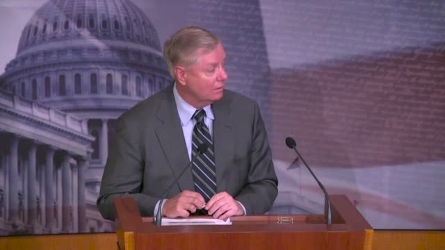 senate judiciary committee chairman lindsey graham of south carolina recalls at a press conference hours after the justice department inspector... - 米国大統領選挙点の映像素材/bロール