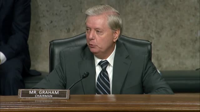 senate judiciary committee chairman lindsey graham of south carolina says interjecting at a senate judiciary committee hearing with former fbi... - caucasian appearance stock videos & royalty-free footage