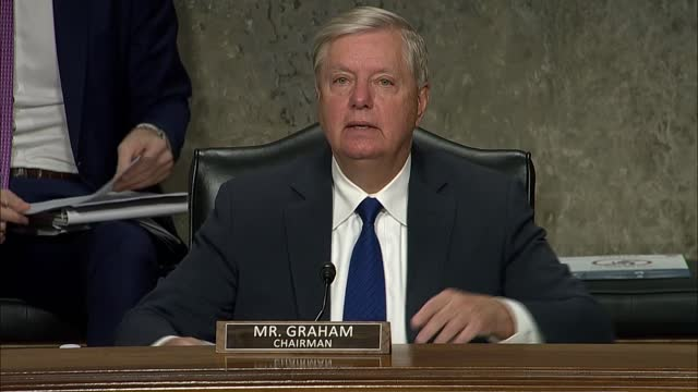 senate judiciary committee chairman lindsey graham of south carolina says at a hearing with facebook and twitter founders mark zuckerberg and jack... - graphical user interface stock videos & royalty-free footage