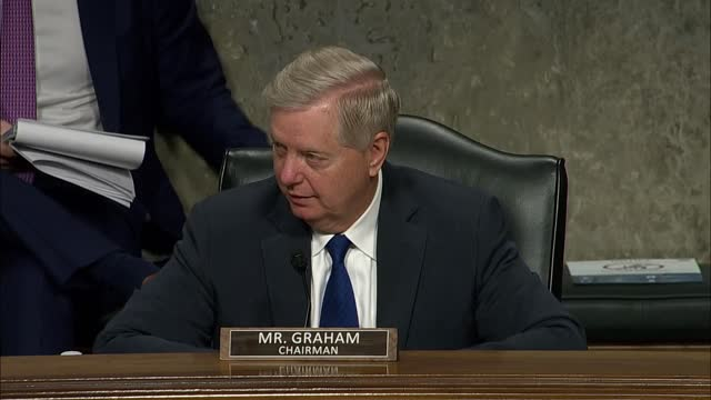 senate judiciary committee chairman lindsey graham of south carolina says at a hearing with facebook and twitter founders mark zuckerberg and jack... - editorial stock videos & royalty-free footage