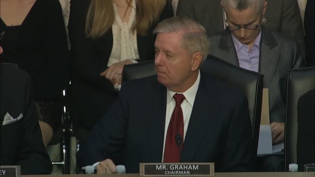 senate judiciary committee chairman lindsey graham says at a hearing with justice department inspector general michael horowitz about how the fbi... - department of justice stock videos & royalty-free footage