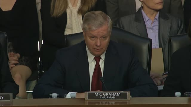senate judiciary committee chairman lindsey graham says at a hearing with justice department inspector general michael horowitz about how the fbi... - michael horowitz stock videos & royalty-free footage