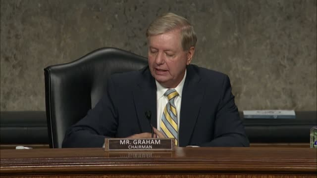 senate judiciary committee chairman lindsey graham says at a hearing to review the fbi crossfire hurricane investigation that general michael flynn... - {{relatedsearchurl(carousel.phrase)}} stock videos & royalty-free footage