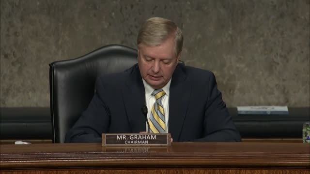 senate judiciary committee chairman lindsey graham says at a hearing to review the fbi crossfire hurricane investigation with former deputy attorney... - attorney general stock videos & royalty-free footage