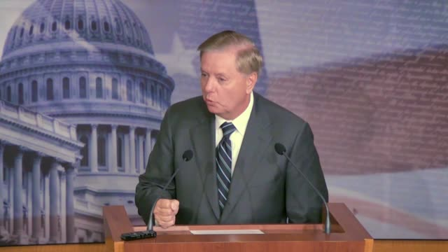 senate judiciary committee chairman lindsey graham says at a news conference where he compares the impeachment process for bill clinton with an... - legislation stock videos & royalty-free footage