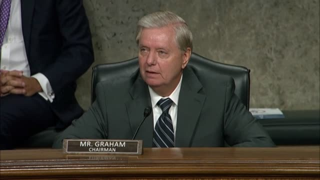 senate judiciary committee chairman lindsey graham says ending a hearing with former fbi director james comey in review of the 2016 crossfire... - payslip stock videos & royalty-free footage