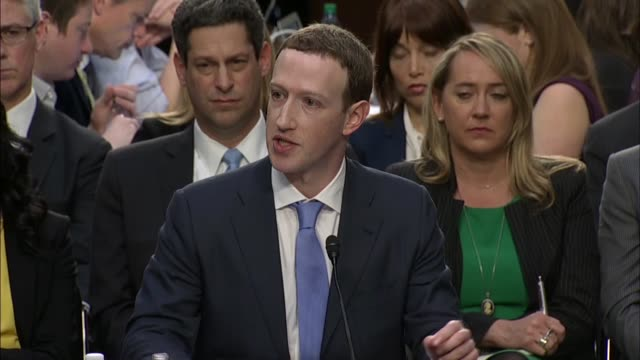 senate judiciary committee ranking democrat dianne feinstein of california questions facebook ceo mark zuckerberg at a joint hearing on data privacy... - senate stock videos & royalty-free footage