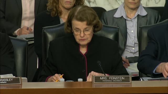 senate judiciary committee ranking member dianne feinstein said during her opening statement that the department of justice inspector general michael... - michael horowitz stock videos & royalty-free footage