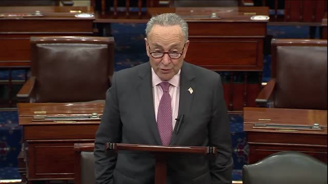 senate majority leader chuck schumer of new york says in floor remarks that president joe biden was set to announce a slew of executive action on... - business person stock videos & royalty-free footage