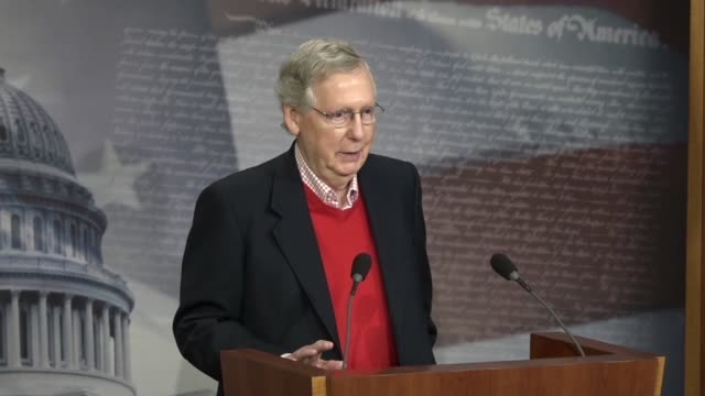 senate majority leader mitch mcconnell begins a year and press conference joking he sounded like donald duck after a week of laryngitis mcconnell... - larynx stock videos & royalty-free footage