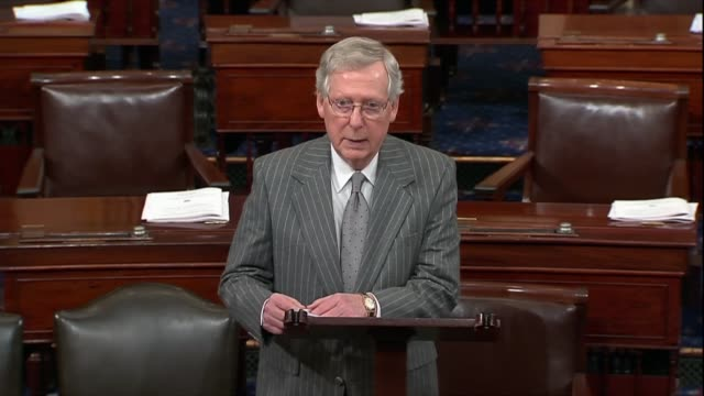 Senate Majority Leader Mitch McConnell notes a second train crash in South Carolina after a collision with a train carrying Republicans killed a...
