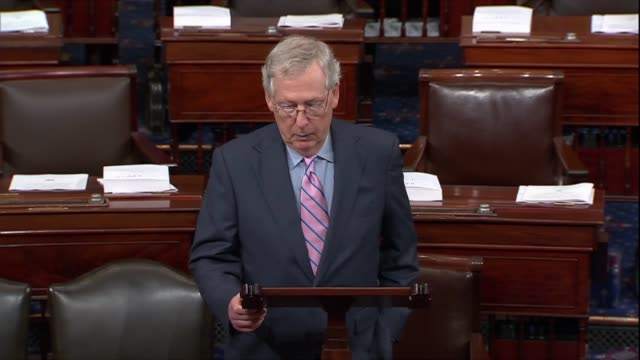 Senate Majority Leader Mitch McConnell of Kentucky announces the Senate stands ready to fulfill its constitutional role by offering advice and...