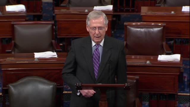 senate majority leader mitch mcconnell of kentucky argues before a fifth hearing with supreme court nominee judge brett kavanaugh amid sex abuse... - philosophy stock videos & royalty-free footage