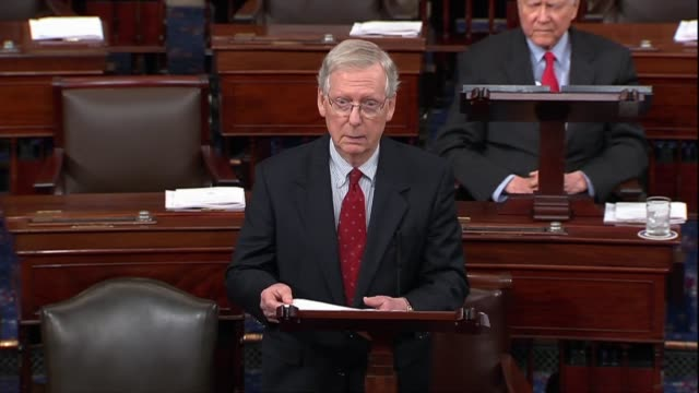 Senate Majority Leader Mitch McConnell of Kentucky asks after a second sex abuse allegation made against Supreme Court nominee Judge Brett Kavanaugh...